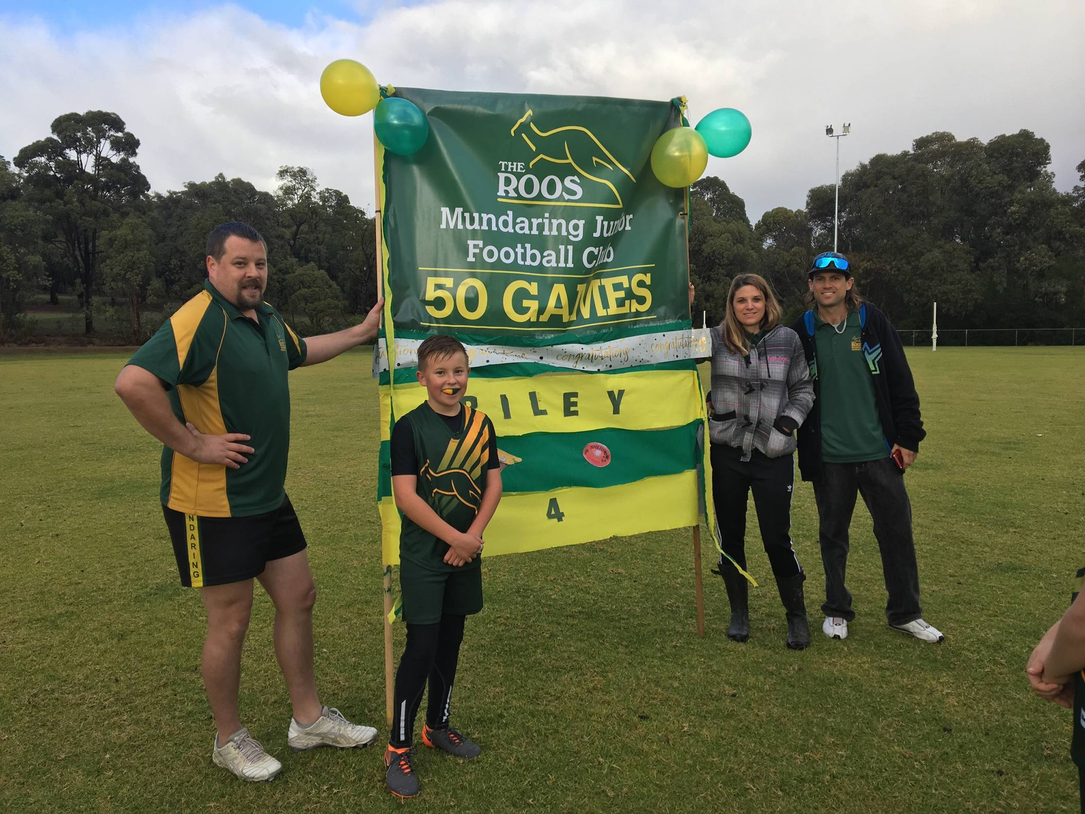 Congratulations Riley 50 Games